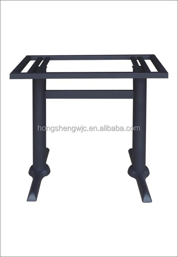 Due colonne tavolo in ferro battuto t- tabella di base gamba gamba ...