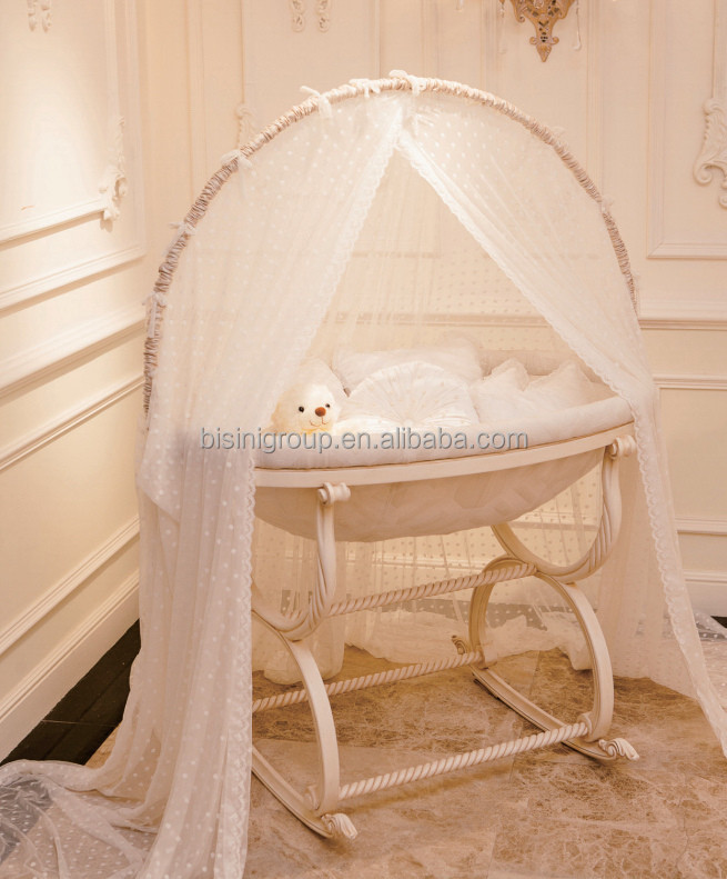 european royal wooden baby cradle swing antique ivory gold baby bassinet new born baby cradle. Black Bedroom Furniture Sets. Home Design Ideas