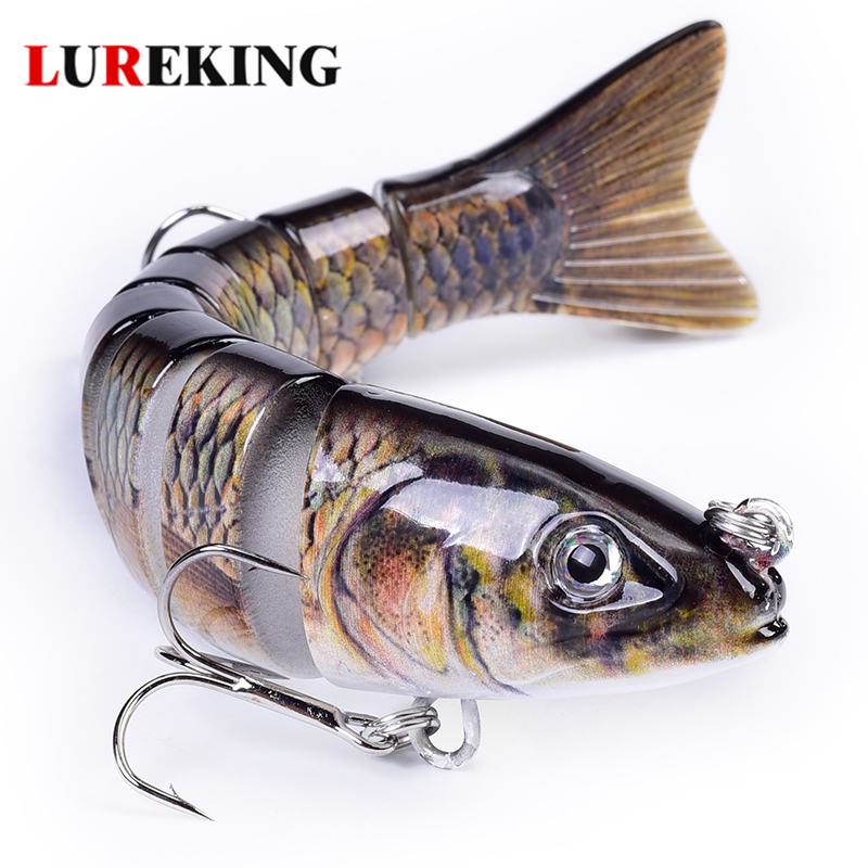 Lureking In Stock Flexible 8 Segment Pike Fishing Lures