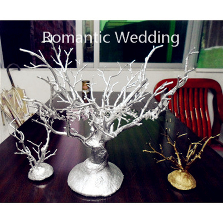 Wholesale silver coral shaped artifical dry tree branches for wedding decoration centerpiece