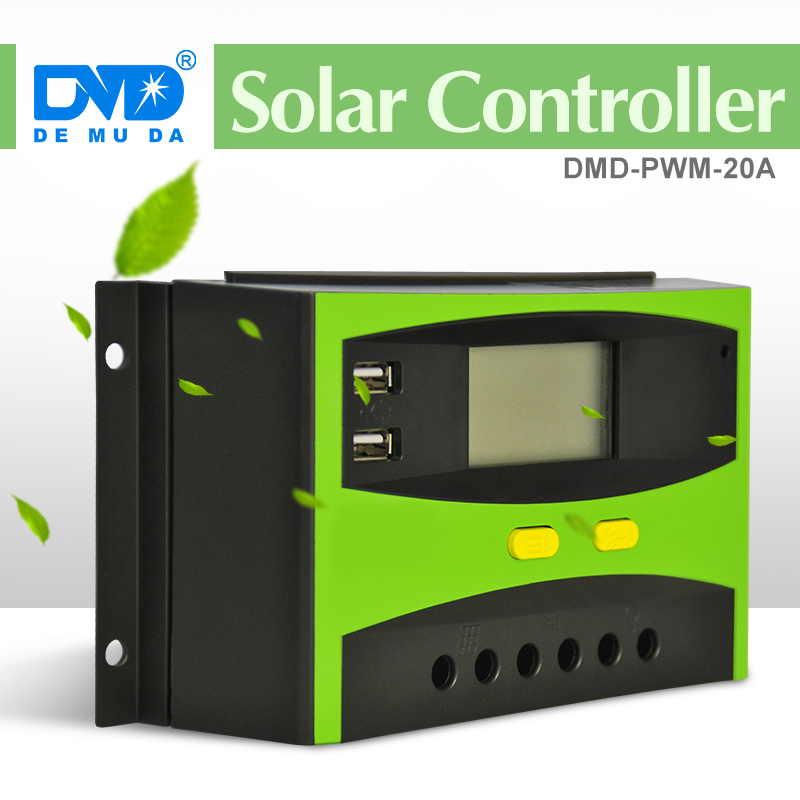 Demuda Solar System Home Use PWM Solar Charger Controller 12V 24V 20/30/40/50/60A solar water heater intelligent controller