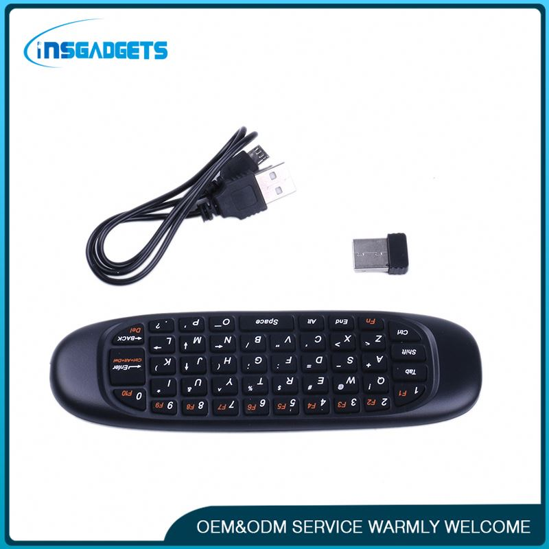 Black mini air mouse remote control ,h0txg laptop mini external keyboards for sale
