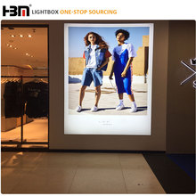 fabric backlit light box aluminium frame large size light box signs display