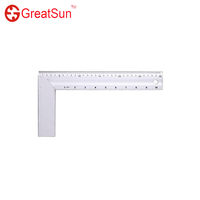 Metric&imperial scale Angle square ruler 90 degree Aluminium carpenter decoration carpenter's stick angle ruler L type