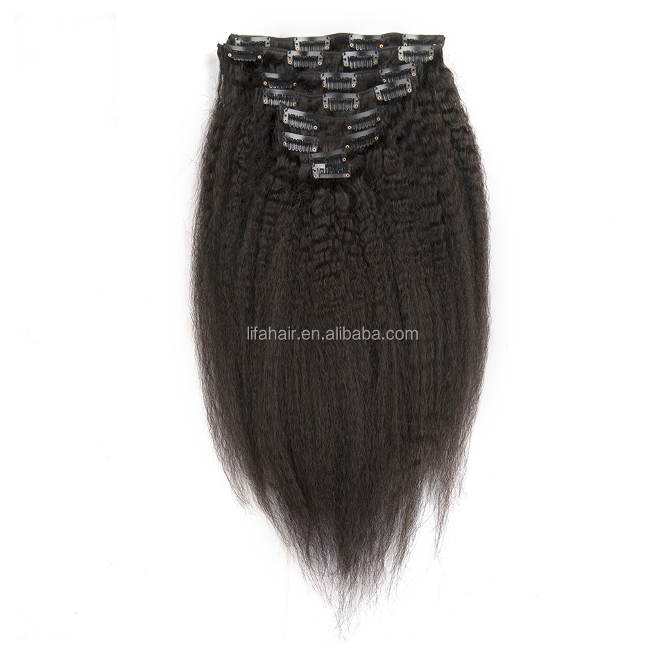 8 Inch Clip In Human Hair Extensions 100 Virgin Remy Natural Raw