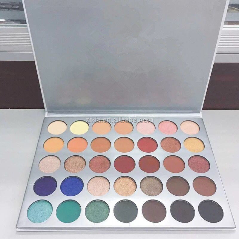 High quality 35 Color Eyeshadow Palette 35O 35T 35K 35P 35E 35W 35N 35OM 35OS Private label matte eye shadow