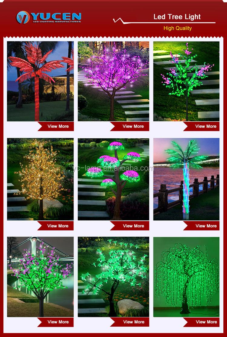 Açık yapay dekorasyon tiara hindistan cevizi ışıklı palmiye ağacı ışık
