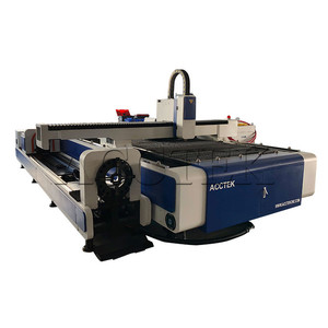 Heavy industry metal cutting machine AKJ1530FR fiber laser tube cutting machine 500W 1KW 2KW with rotary axis