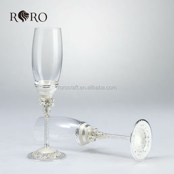 Pearl Design Wedding Gift Ampagne Flutechampagne Glass Wter