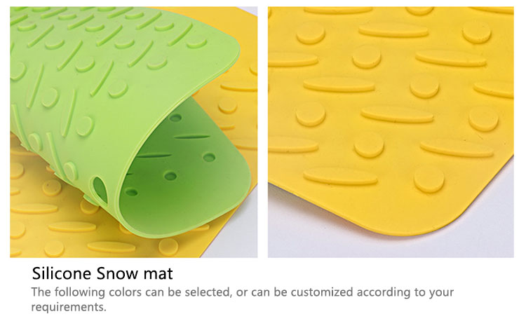 Wholesale food grade healthy snow shape square hot food silicone table mats