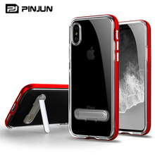 Crystal clear back cover pc bumper dust-proof mobile phone case for iphone x case luxury