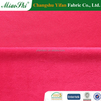 2017 Cheap Price 100% Polyester Soft Velvet Upholstery Fabric Clothing Fabric