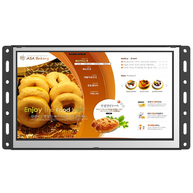 "15.6"" Android POS terminal open frame lcd monitor for payment"