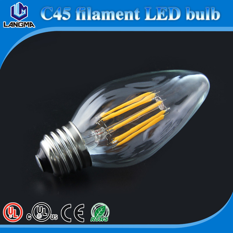 High Quality C45 6W Edison Base 3000K Filament LED Bulb