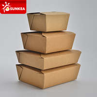 Disposable custom brand printed paper fast food packaging box