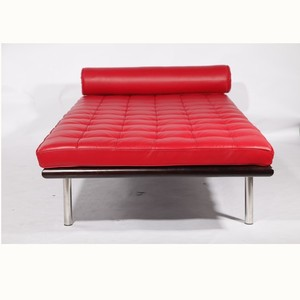 Mid-century design living room Barcelona daybed in red