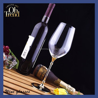 Popular gold plated gift wine glass for Christmas