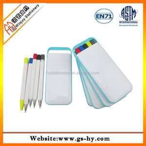 5 in 1 multifunction pen, plastic ball pen set