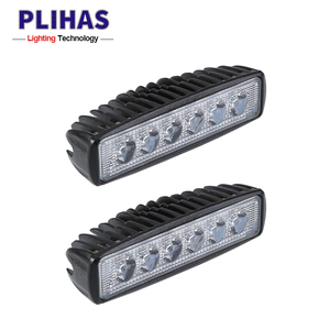 Auto lighting system 720lm IP67 18w car headlight led lamp bar jeep offroad single row led light bars