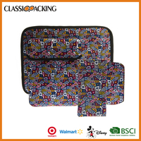 Promotional item geometric figure pattern printing multiple bag computer laptop