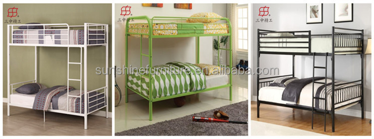 Trade Assurance Cheap Single Size Dorm Metal Bunk Beds For