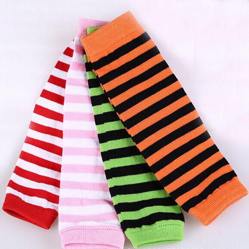 para ni/ños de 3 meses hasta 8 a/ños dise/ño de rayas Calentadores de piernas para beb/é color rojo y rosa