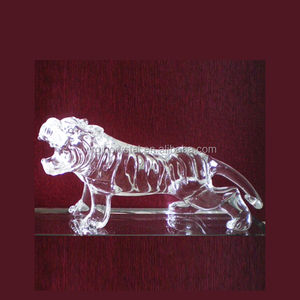 Wholesale Crystal Tiger 3D animal Model for office decoration