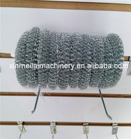 plastic cleaning ball steel wire scourer ball/galvanized wire scrubber