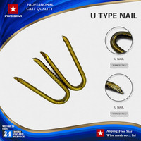 "Alibaba u shape pins nail 2"""" 2.5"""" 3"""" 4""""for artificial grass landscaping"