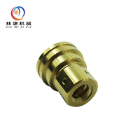 OEM cnc lathe machining brass electrical equipment parts