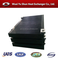 plate fin type hydraulic oil and air cooler for screw compressor