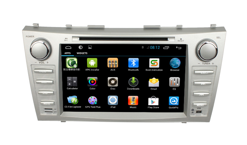 Quad core pure android 4.4 central multimedia gps central m toyota camry 2006-2011with DVD BT GPS 3G Wifi android! Good quality!