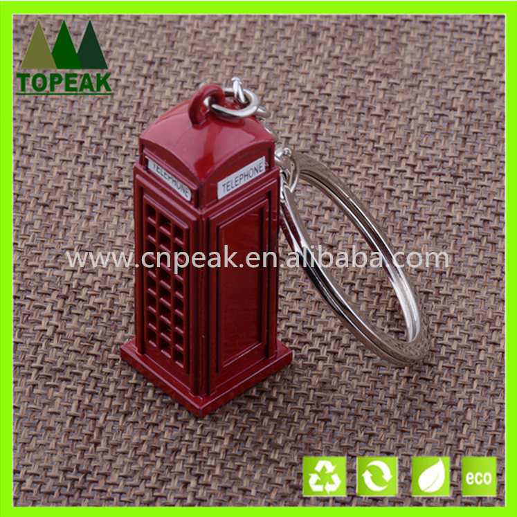 Manufacturers wholesale England phone booth key chain/ring