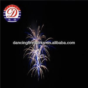 100 SHOTS BLUE+BROCADE CROWN WITH BLUE TAIL firework