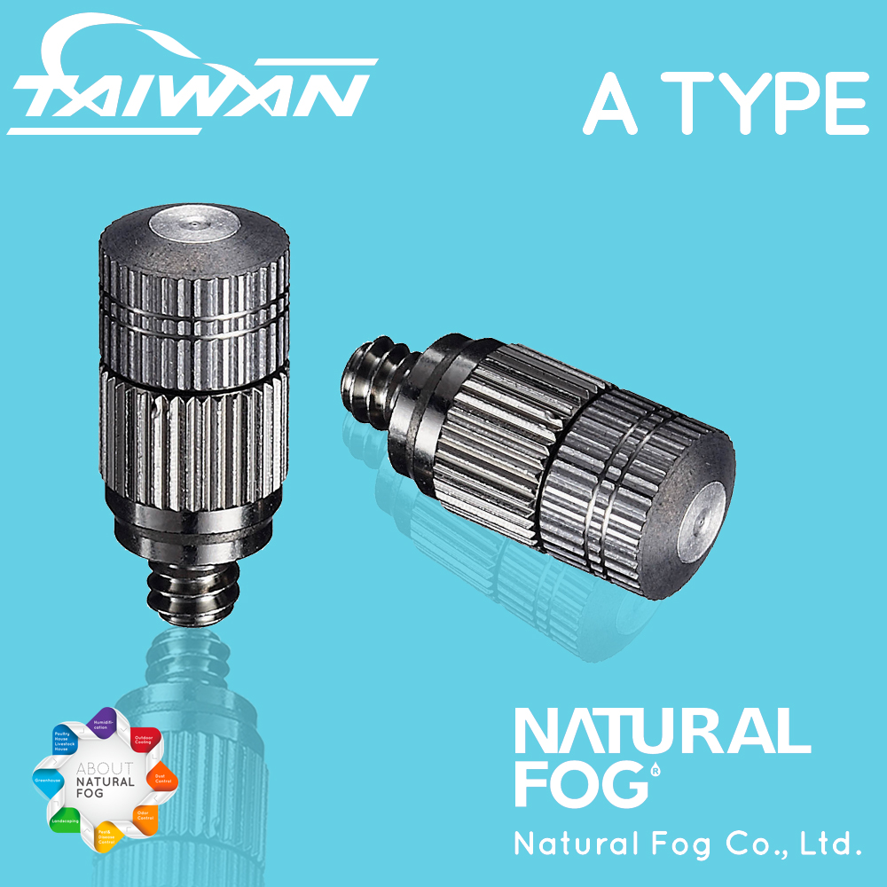 Natural Fog Cleanable Drip Free Hydroponics Mist Irrigation Stainless Steel Fog <strong>Nozzle</strong>