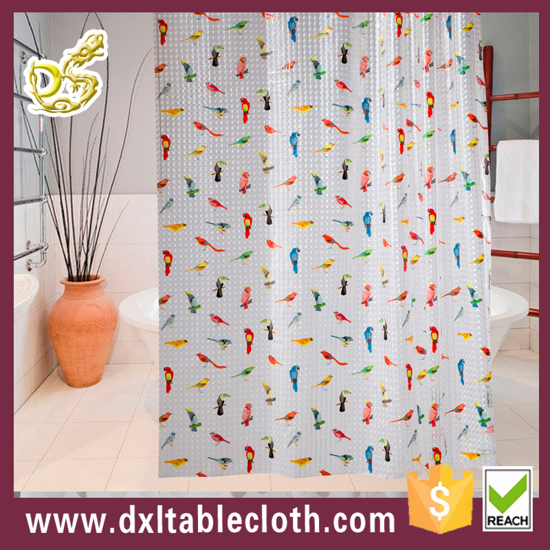 Eco-Friendly Feature and PEVA Material Vinyl Shower Curtain