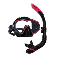 Gold supplier wholesale free diving equipment scuba diving gear wave snorkel mask set
