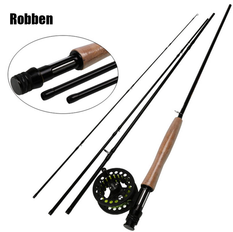 4-Piece 9 Feet With Carbon Blank Hard Chromed Guides A Cork Grip Explorer Graphite Fly Fishing Rod