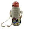 customized canvas water bottle holder cooler bag with shoulder strap