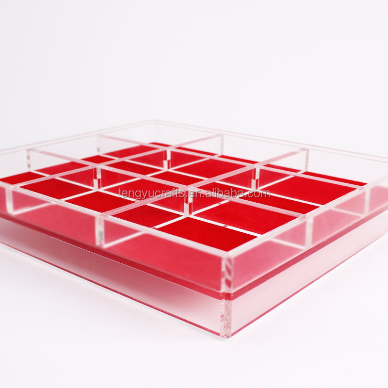 custom lucite plexiglass bracelet silver gold accessory display box case stackable acrylic clear jewelry organizing trays