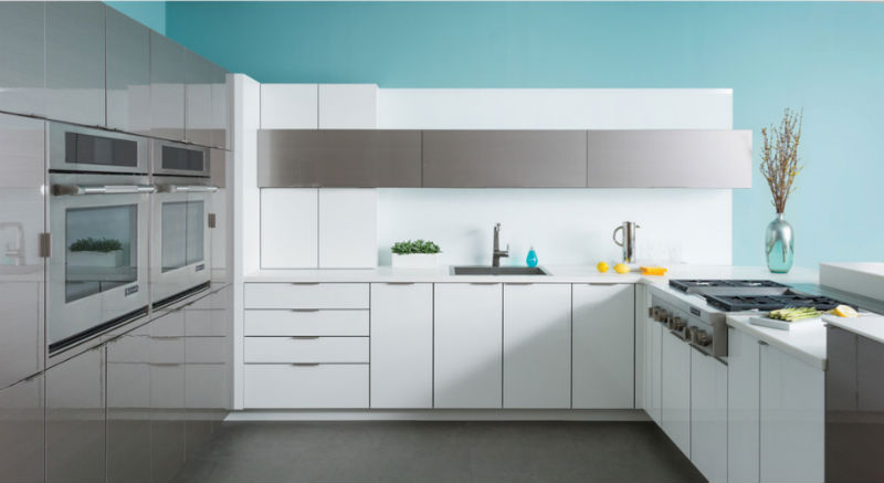 White Gloss Painted Doors Plywood Mdf Carcases Modern Kitchen