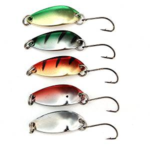 Hot New Arrival 5pcs/lot 3g 30mm Spinner Spoon Fishing Lure Metal Lures Colorful Hard Baits