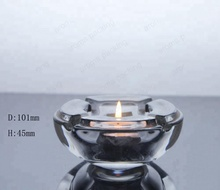 참신 clear (gorilla glass) candle 홀더 (gorilla glass) 차 빛 서