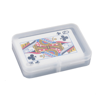 custom printed clear box playing card with plastic box