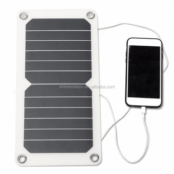 6 5w 5v Semi Flexible Solar Panel With Sun Cells For Mobile Phone Tablet