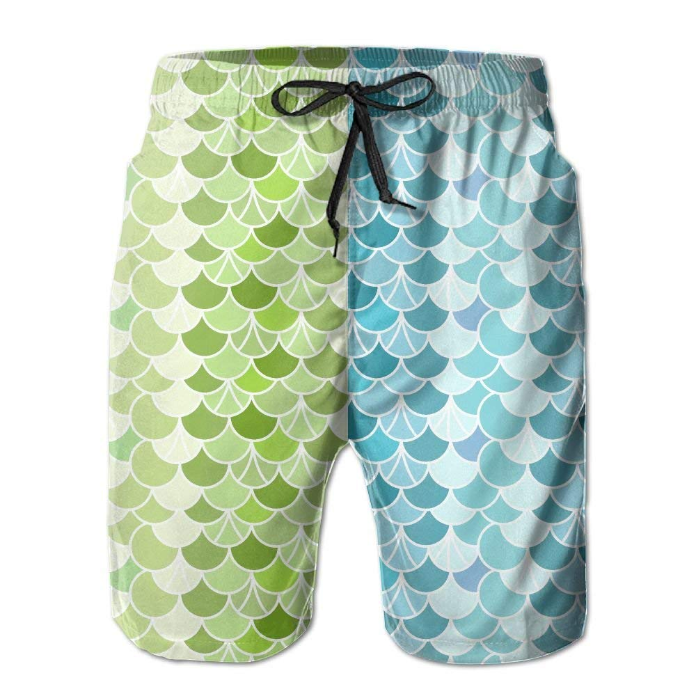 a7cf1ac8a1a41 Get Quotations · Mens Quick Dry Board Shorts Green And Blue Beach Board  Shorts With Pockets