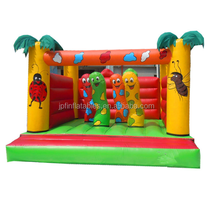 2019 jungle carpenter worm inflatable bouncy house for kids