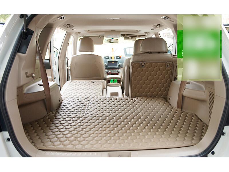 buy for toyota highlander 2015 2016 5 seat beige pu leather rear trunk floor. Black Bedroom Furniture Sets. Home Design Ideas