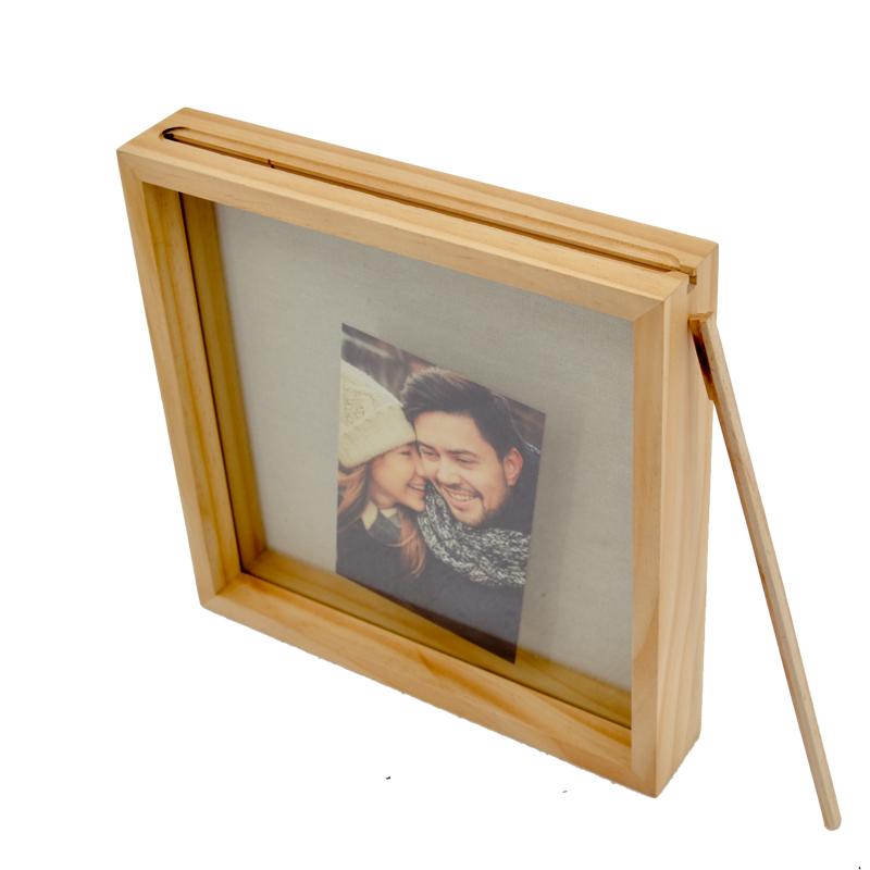 High quality custom  square wooden shadow box photo 3d deep shadow box frame