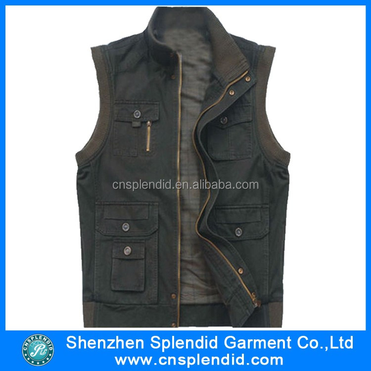 2015 OEM Costom Mode Heren Hooded Denim Vest